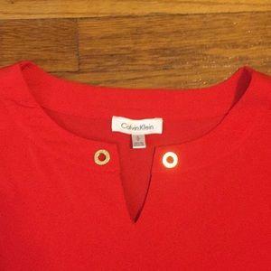 Calvin Klein Tops - Calvin Klein red sleeveless blouse
